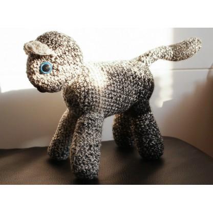 Háčkovaný plyšák kočka